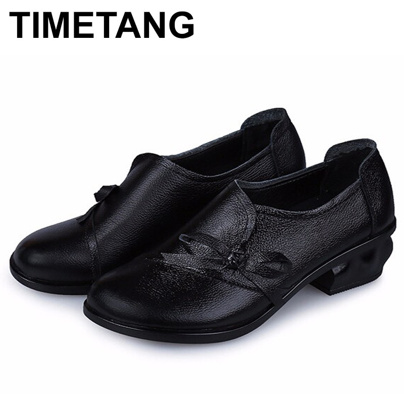TIMETANG Women  100% Genuine Leather Flat Shoes Woman Loafers 2016 New Fashion Women Casual Single Shoes Women Flats<br>