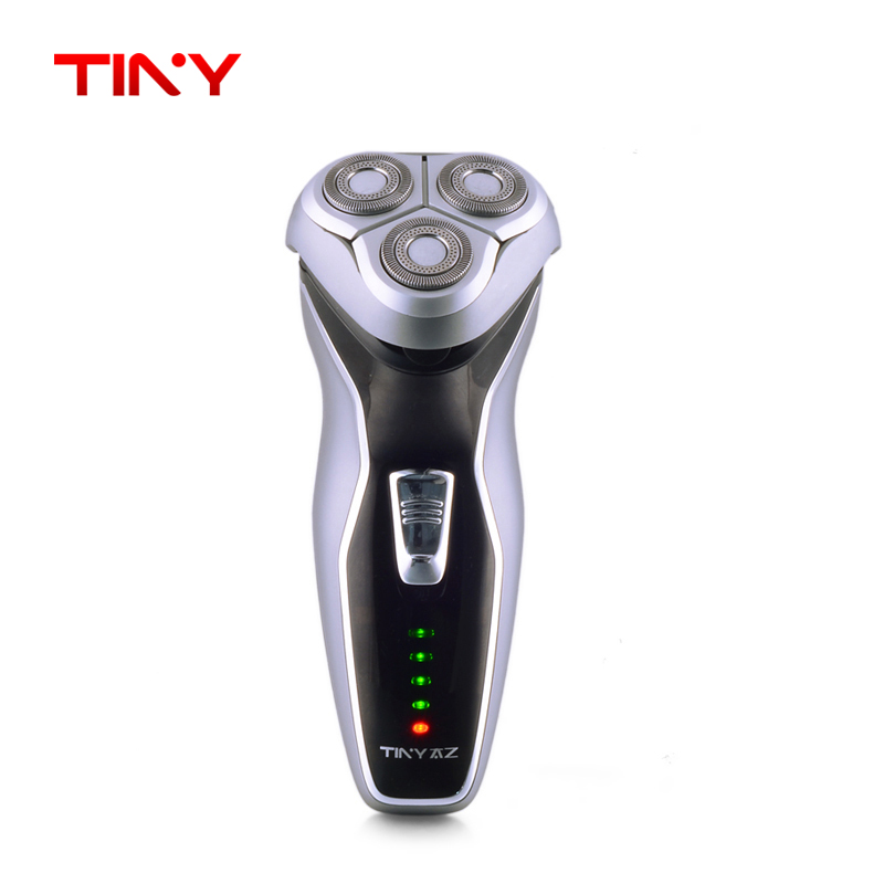 TINY Washable 3D Floating Triple Blade Rechargeable Rotary Electric Men Face Shaver Beard machine Hair Shaving Razor trimmer <br>