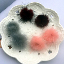 New 5 Colors Soft PomPom Mink Fur Ball Stud Earrings For Women Lady Girl Cute Hair Brincos Fashion Jewelry Christmas Gift(China)