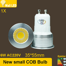 MINI NEW led GU10 COB dimmable cold white Warm White 6W LED GU10 lamp light replace the Halogen lamp