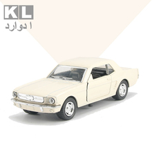 KL Children Gift 1:32 Scale Metal Classic Alloy Pull Car With Light And Music Retro Boy Mini Toy Cad Ford Model Four Color 8A#
