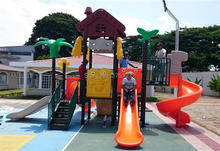 Exported to Ecuador Tree House Series Playground Set Anti-rust Outdoor Play Center Safe Kids Amusement Park HZ-045