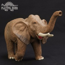 Handmade Certified Goods Large Elephant Anime Model Soft PVC 3D Animals Stuffed Action Figures Kids Toys For Children Figma Gift(China)