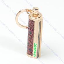 Golden Keyring KeyChain Permanent Match Striker Lighter(China)