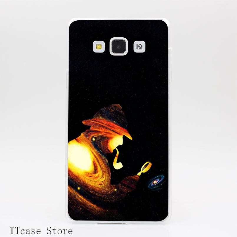 3105CA Sherlock Holmes The Great Transparent Hard Cover Case for Galaxy A3 A5 A7 A8 Note 2 3 4 5 J5 J7 Grand 2 & Prime