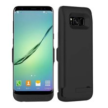 6500 Mah High Quality Backup Charger Case For Samsung Galaxy s8 Plus Power Case Bank For Samsung S8 plus Battery Case Black(China)