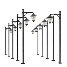 10pcs Model Railway Led Lamppost Lamps Street Lights HO Scale 6cm 12V New LYM10 model outdoor lamp yard light leds(China)