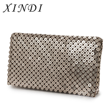 2017 New Fashion Design Women Office Diamond HandBag Stage style High quality Metal Purse Ladies Party Bags Chocolate color