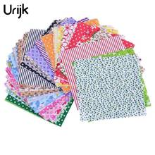 Urijk 50PCs 10x10cm Cotton Fabric For Patchwork Felt Cheap Fabric For Needlework Crafts Materials for Sewing Curtains Dolls DIY(China)