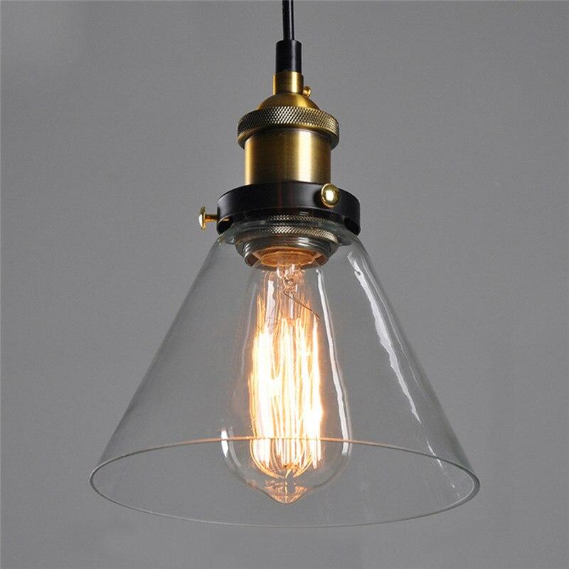New Dinning Lamp Transparent Glass Pendent Light Chandelier Lamp Modern Hanglamp Art Deco light fixtures Edison E27 Light<br>