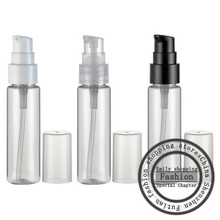 Hot  sale,50pcs, 30ml Transparent flat shoulder beak bottle (powder pump), cosmetics packaging, perfume spray bottle