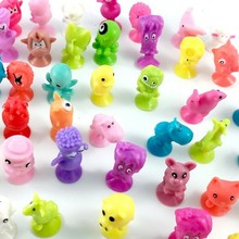 Cute Mini Sucker Vinyl Model Marine Land Strange Monster Small Animal Dolls Sucker Action Figures Kids Toy Capsule Children Gift(China)