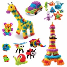 2017 Magic Puffer Ball 600 Pieces Accessories Build Mega Pack Animals DIY Assembling Spot Best Block Toy Sets For Children