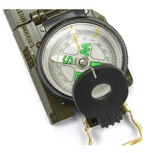 1Pcs Mini Military Camping Marching Lensatic Compass Magnifier Free Shipping Wholesale Army Green Color(China)