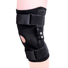 new best professional elastic neoprene sports open plastic hinged  knee braces support protector free shipping  #ST8136