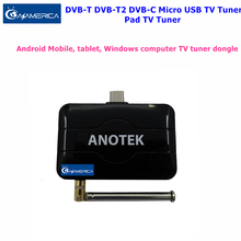 2017 Best Digital DVB-T DVB-T2 DVB-C TV Receiver Pad TV Turner Live Android TV Receiver on Android Phone / Pad USB OTG