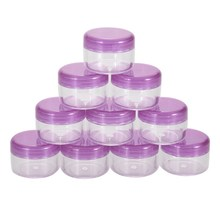 10Pcs Purple Cosmetic Empty Jar Pot Eyeshadow Makeup Face Cream Container Bottle