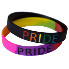 Buy 100pcs Gay sexual pride Lesbian Les  Girls love bisexuality Support silicone wristband bracelet free shipping ePacket