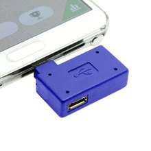 Left Angled 90 Degree Micro USB OTG Host Flash Disk Charge Adapter with Micro Power