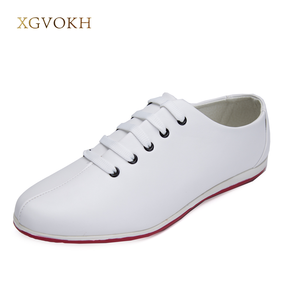 XGVOKH Men new style pointed toe leather oxford shoes lace up casual shoes Fashion waterproof men shoes flats <br>