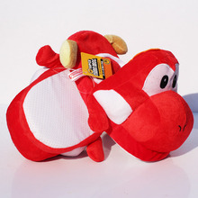 28cm Super Mario Red Yoshi Plush Slipper Shoes Cartoon Winter Slippers Indoor Shoes For Adult Free Shipping