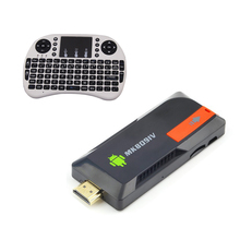 MK809IV RK3188 Quad Core Mini PC Android TV Box Wifi 2GB 8GB Built-in Bluetooth + fly Keyboard air mouse touchpad remote