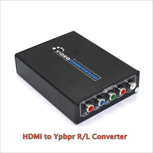 New 1080P HD HDMI To Component YPbPr video and R/L audio Adapter Converter HDMI to AV Converter Supporting R/L Audio Out(China)