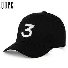 Unisex Popular Singer Chance The Rapper 3Chance Cap men women Black Embroidery Letter Baseball Cap Hip Hop Snapback Hats dad hat