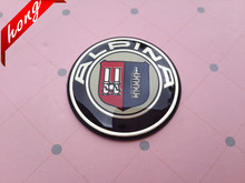 2pcs 45mm car ALPINA Steer Wheel Badge Emblem Sticker M3 M5 Auto Accessories Free shipping(China)