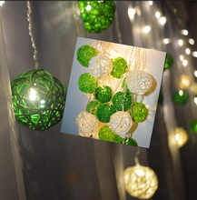 8 work mode ,4M 96LED Ice Bar LED String wave shape Curtain Lights Lamp Holiday Xmas Wedding Decor with Green tone rattan ball