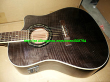 Acoustic Electric Guitar with EQ IN STOCK gray guitar Factory from china Free shipping