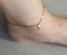 Halhal Bileklik Ayak Fruit Pineapple Anklets Women Men Cheville Foot Jewelry Stainless Steel Hand Chain Barefoot