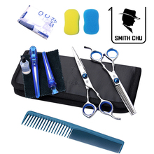 Barber scissors tools hair scissor child flat cut fringe cutting teeth thinning scissors combination set