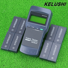 KELUSHI Multifunction Network LAN Phone Cable Tester Meter Cat5 RJ45 Mapper 8 pc Far Test Jack English operation fast shipping