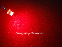 100PCS 3MM Flat top super bright Red light wide angle Led Diffused fog(China)