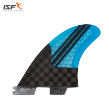 SUP fins fcs 2 surfboard fins stand up paddle board fins carbon fiber honeycomb stripes surf fins fcs ii quillas fcs tri set(China)