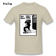 Chet Baker Boy Vinyl T Shirt Pure Cotton Player Short Sleeve O Neck Tshirt Tees Teenage 2017 Jazz Music Funny T-shirt For Men