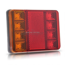 2PCS Waterproof 8 LED Taillights Rear Tail Light DC12V for Trailer Truck Boat(6.8)(China)