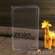 10 pcs/lot3*6*10cm wholesale clear pvc box/dessert /gift package/chocolate/candy/lolipop/plastic/high quality/