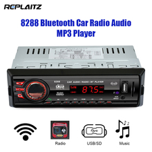 8288 Car Radio Audio MP3 Player 1 Din Bluetooth LED Display 7377IC FM/SD/MMC/USB/AUX Input Auto Auto Stereo Media Receiver(China)