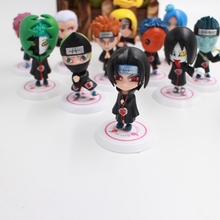 11Pcs/set Anime HOKAGE Naruto Cartoon Mini Cute Version PVC+ABS Material Children Toy Collection Action Gigure Model Lower Price(China)