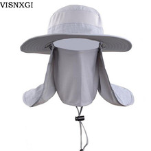 VISNXGI 2017 New Men Sun Hats Climb Mountain Jungle For Bucket Hat Protect Neck Face Cap With Visor Travel Fishing Bucket Hat
