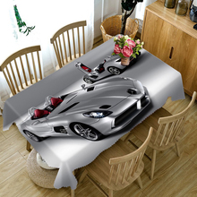3D Tablecloth Cartoon Cool Super Sports Car Pattern Dustproof Thicken Cotton Table cloth Children Room Decorated Home textile(China)