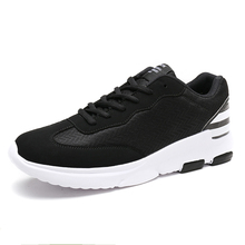 Fine Zero Mens Outdoor Athletic Sport Sneakers Spring And Summer Plus size 46 Mesh Upper Lace Up Black Gray Light Running Shoes