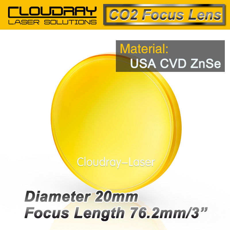 USA CVD ZnSe Focus Lens Dia. 20mm FL 76.2mm 3 for CO2 Laser Engraving Cutting Machine Free Shipping<br><br>Aliexpress