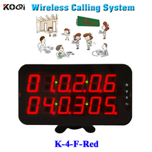Ycall Restaurant order device high quality new touch screen wireless calling LED screen pancel K-4-F-Red(China)