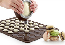 New Silicone Macaron Macaroon Pastry Oven Baking Mould Sheet Mat 30-cavity DIY Mold Baking Mat mk(China)