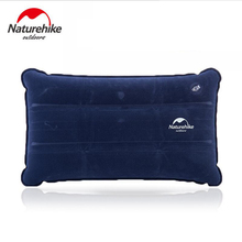 Naturehike Ultralight Foldable Travel camping pillow Flocking+PVC air mattress inflatable mattress to sleep camping equipment