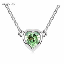 ZH.KH.ONG Elegant Heart necklace embed heart crystal fashion love pendant women festival jewelry gift N115 - ZH KH ONG Store store
