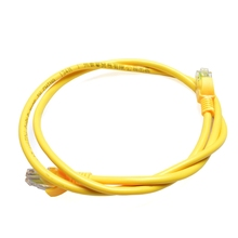 1 M Yellow Finished Super Five Cable 100 Trillion Indoor Twisted Pair Network Jumper Computer Broadband Network Cable(China)